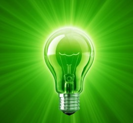 green lightbulb crop